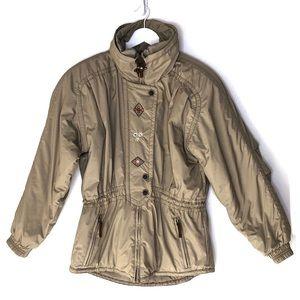 OBERMEYER. Tan Vintage Ski 1947 Thermolite Jacket